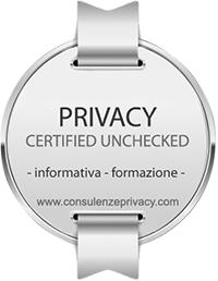 certificato consulenza privacy